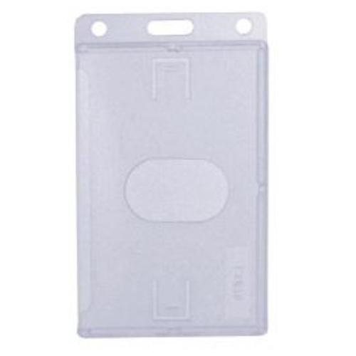 Card Holder Thumbslot Clear Vertical image